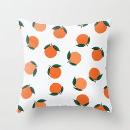 California Wild Oranges Throw Pillow