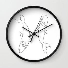 Pisces - Horoscope 2-12 Wall Clock