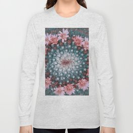 Cactus with Pink Flowers Long Sleeve T-shirt