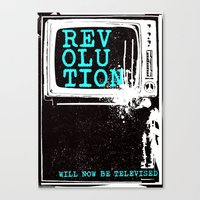 revolution Canvas Prints featuring revolution by J Maurice