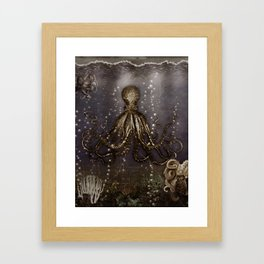 Octopus' lair - Old Photo Framed Art Print