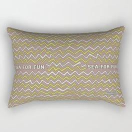 Sea for fun (brown) Rectangular Pillow