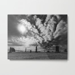 Cemetery Silhouette Metal Print