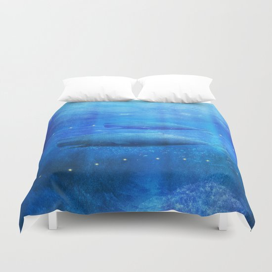 Save The Whales by Viviana Gonzalez Duvet Cover