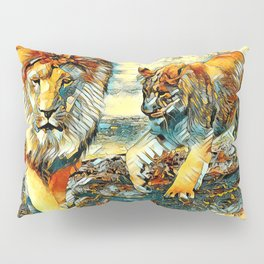 AnimalArt_Lion_20171017_by_JAMColors Pillow Sham