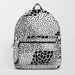 Mixed Animal Print Black and White Backpack