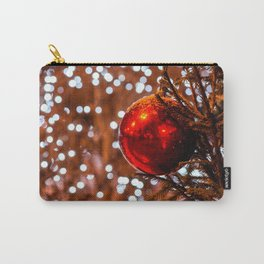 Red Ball, White Illumination Lights Carry-All Pouch