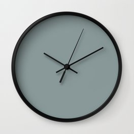 Silver Blue Wall Clock