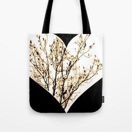 Orange heart Tote Bag