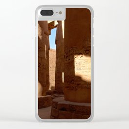 Columns in Karnak Temple Clear iPhone Case