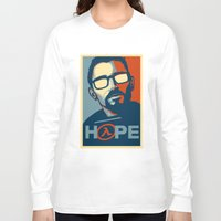 half life Long Sleeve T-shirts featuring Half Life Hope by The Strynx