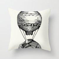 balloon Throw Pillows featuring Balloon by Ilya kutoboy