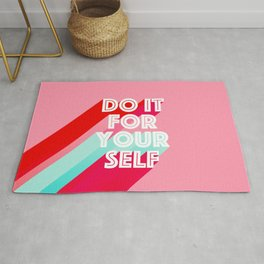 Do it for Yourself #motivational words Rug