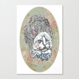Meowrie Antoinette Canvas Print