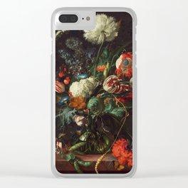 Jan Davidsz de Heem - Vase of Flowers Clear iPhone Case
