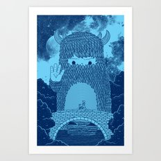 Hello Little Creature Art Print