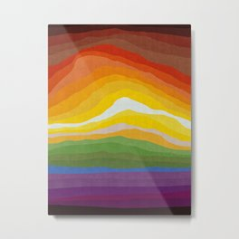 Abstract and colorful landscape Metal Print