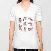 yoga V-neck T-shirts featuring Yoga by Anna Katharina Jansen |Illustration