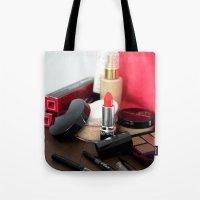 make up Tote Bags featuring Make-Up by Tanya Thomas