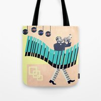 louis armstrong Tote Bags featuring St Louis by Liall Linz