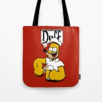 popeye Tote Bags featuring Homer-Popeye by le.duc