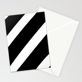Black'n'White Stripes Stationery Cards