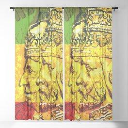 Haile Selassie Empress Menen Rasta Royalty Sheer Curtain