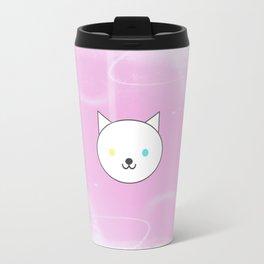 Nova - Kawaii White Cat Blue Yellow Eyes Travel Mug