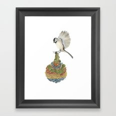 Quilted Bundles: The Bird I Framed Art Print