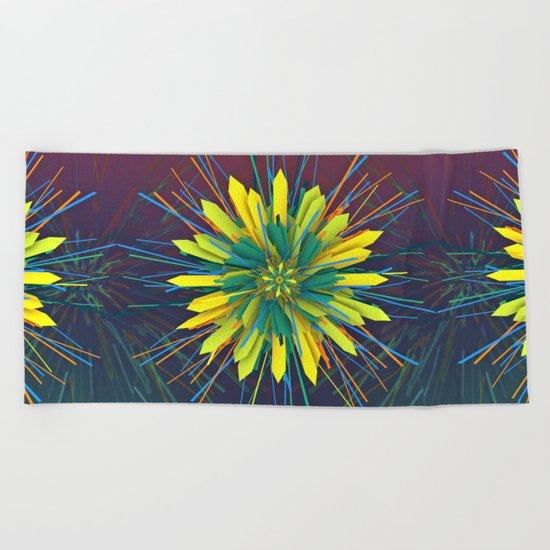 SunZun Flower Beach Towel