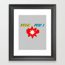 Boom Pow Superhero Splash Framed Art Print