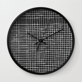 Left - Black and white Wall Clock