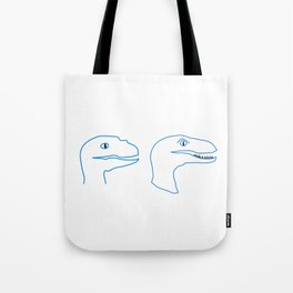 Raptors Blue Tote Bag