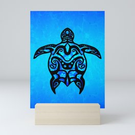 Tribal Turtle Hibiscus Mini Art Print