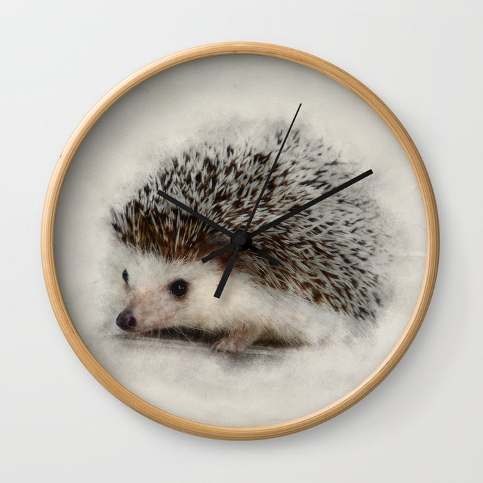 Little hedgehog Wall Clock