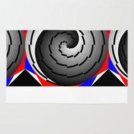 Double Yin Yang Spiral Rug