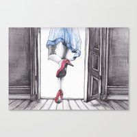 dorothy Canvas Prints featuring DOROTHY by Rachel E Murray