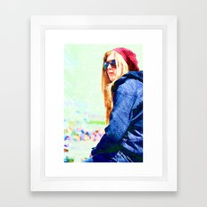 Kaleidoscope girl Framed Art Print