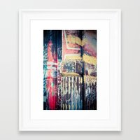 writing Framed Art Prints featuring Urban writing by Ellelao