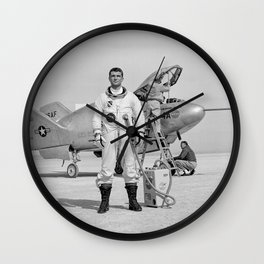 X-24A on Lakebed Wall Clock