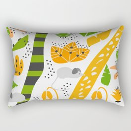Cute mice in a tropical decor Rectangular Pillow