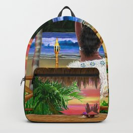 Hawaiian Sunset Hula Dancer Backpack