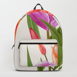 Colorful Flower Bouqet Painting Backpack