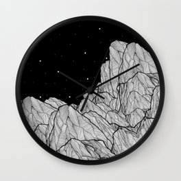 Rocks of the moon Wall Clock
