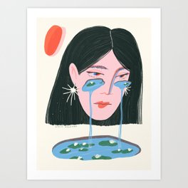 Water Lily Tears Art Print