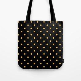 Chic Art Deco Elegant Gold Dot Pattern Tote Bag
