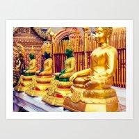 Golden Temple Buda Art Print