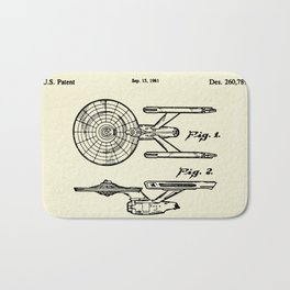 Starship Enterprise Startrek -1981 Bath Mat