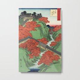 Ukiyo-e print Japanese Tōfukuji Temple and Tsūten Bridge Metal Print