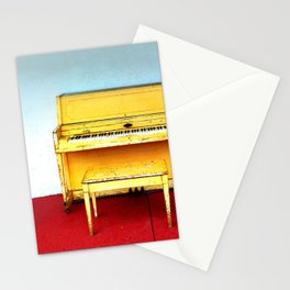 Out of Tune - Vintage Beach Piano Stationery Cards